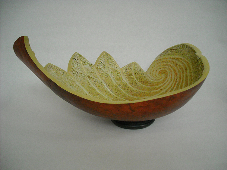 Red Leaf Bowl, 6.5 x 13.25 x 9.5 inches, sold