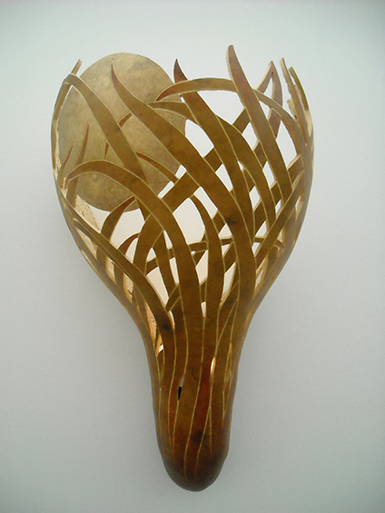 Sea Grass, wall sconce, 21.25 x 12.75 x 10 inches, sold