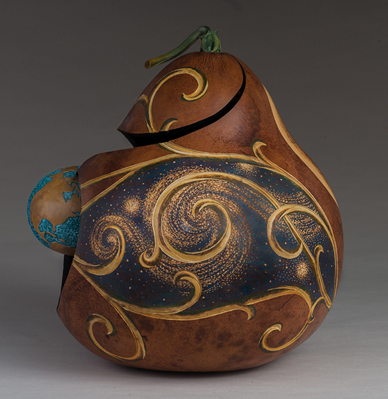 Van Gourd, alternate view, 15 x 12.5 x 14 inches, sold