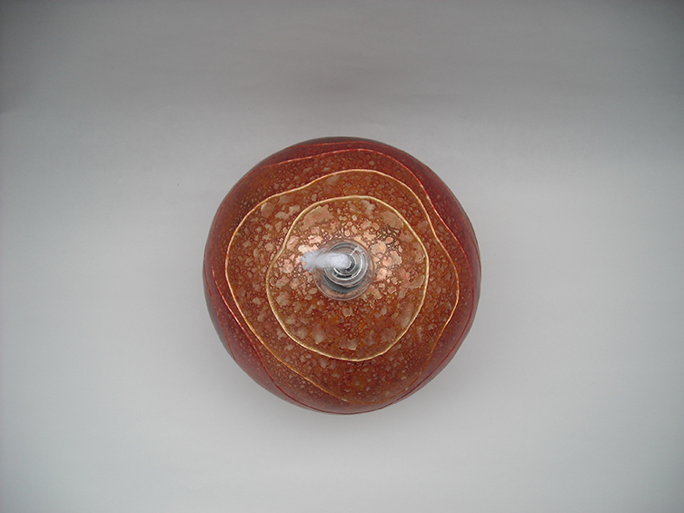 oil lamp, top view, sold